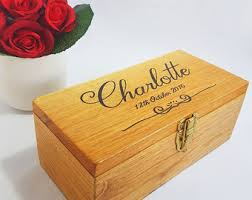 Customized Keepsake Box Wedding Keepsake Box