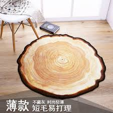 tree ring coffee table personality creative old tree ring round carpet bedroom living room