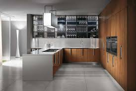 Modern Kitchen Wall Cabinets Kitchen Awesome White Brown Wood Stainless Modern Design Italian