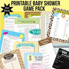 printable baby shower party supplies print it baby