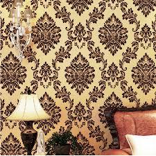 beibehang luxury 3d wallpaper for walls 3 d mural papel de parede 3d flocking velvet gold jpg