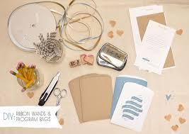 wedding programs with ribbon diy program bags and ribbon wands