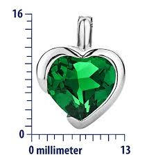 byjoy jewellery byjoy 925 heart shape emerald pendant on 45 cm curb chain jewellery