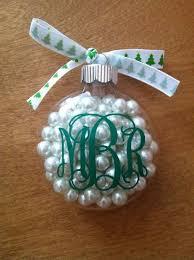 diy monogram ornament craft clear ornaments monograms and ornament