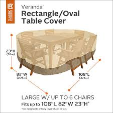 amazon com classic accessories veranda oval rectangular patio