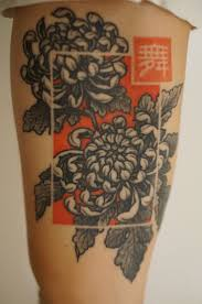 portland chrysanthemum tattoo i love the idea of that colored