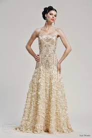 golden wedding dresses sue wong bridal collection wedding inspirasi