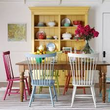 colorful dining table outstanding dining table different colored chairs interior designing