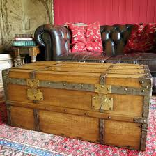 Rustic Chest Coffee Table Reclaimed Antique Trunk Coffee Table Victorian Steamer Trunk