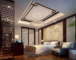 styles apartment bedroom decorating with elegant false ceiling