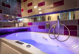 hotel relaxing beautiful bathrooms with shower or jacuzzi bath or our whirlpool balneo bathtubs from the
