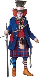 Kilt Halloween Costume Johnny Depp Mad Hatter Alice Wonderland Mad Hatter