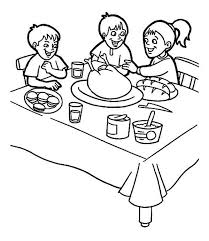 thanksgiving breakfast family coloring download