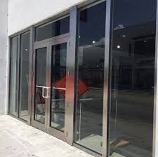store front glass doors abc glass repair miami fl glass door window