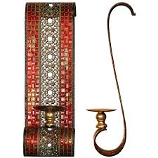 Mosaic Wall Sconce Mosaic Wall Sconce 15x12x48cm Pair Carrick Design