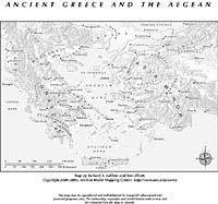 blank map of ancient greece aegean ancient mapping center