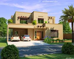 3d front elevation com 10 marla house plan sukh chian garden
