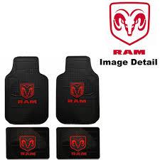 Dodge Ram Truck Accessories - front u0026 rear seat rubber floor mats car truck suv dodge ram logo