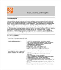 Home Depot Resume Sample by Sales Associate Job Description Template U2013 8 Free Word Pdf