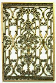 Faux Wrought Iron Wall Decor Tuscan Tall Scrolling Wrought Iron Wall Grill Set Of 2 By