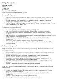 Resume Template University Student Sample Professor Resume Adjunct Professor Resume Samples Sample Cv