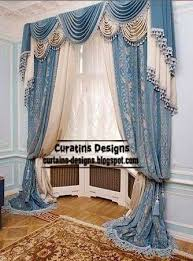 Living Room Curtains And Drapes Classic Curtains And Drapes In Blue Tones For Living Room