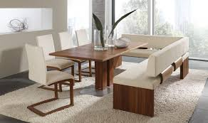 Dining Room With Bench Seating Good White Dining Room Table With Bench And Chairs 60 For Your