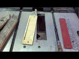 Shopmaster Table Saw Idiots Guide To Wood Working Cheap Zero Clearance Insert Youtube