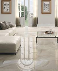 calacatta gloss floor tiles have a stylish marble effect