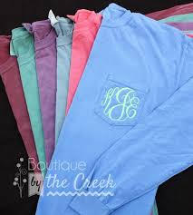 Comfort Colors Shirts Comfort Colors Brand Monogrammed Long Sleeve By Boutiquebythecreek