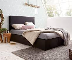 Schlafzimmer Bett Mit Matratze Boxspringbett Elexa 140 X 200 Cm Schwarz Topper Und Matratze Möbel