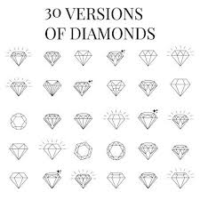vector art diamond icons set design u2026 pinteres u2026