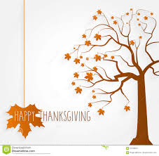 thanksgiving poster tree with maple leaves stock vector image