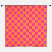 Pink Polka Dot Curtains Orange Polka Dot Window Curtains Drapes Orange Polka Dot