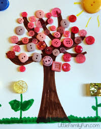 little family fun spring button craft for kids