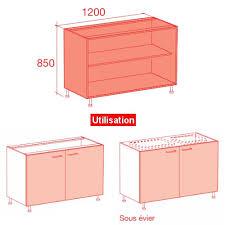 caisson bas de cuisine meuble caisson bas largeur 120 vial menuiserie cuisine jardin