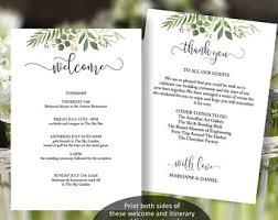 wedding itinerary template printable wedding itinerary template wedding weekend