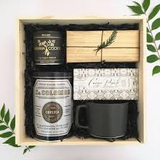 gift baskets for clients coffee and gift box from loved and found client or