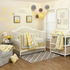 Gray And Yellow Crib Bedding The Peanut Shell Stella 4 Crib Bedding Set Walmart