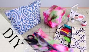 diy pencil case u0026 makeup bag no sew u0026 sew by anneorshine youtube