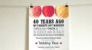 40th anniversary invitations 40th anniversary invitations 2885 together with wedding