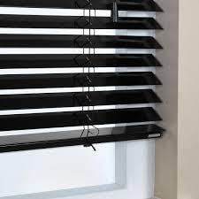 Made To Measure Venetian Blinds Wooden Black Wide Slat Venetian Blinds U2022 Window Blinds