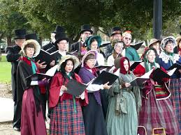 christmas carolers christmas away from the malls building bridges