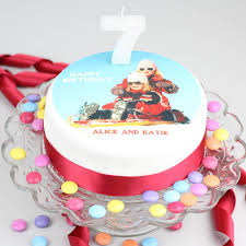 personalised birthday cakes personalised photo topper birthday cake decoration kit by clever