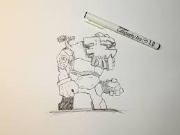 fan art rough sketch of the rock giant fan media stonehearth