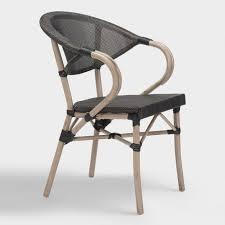 Wicker Bistro Chairs All Weather Wicker Elie Outdoor Bistro Chairs Set Of 2 World Market