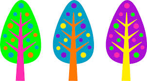 unique neon colored christmas trees free clip art