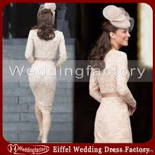 kate middleton dress sheath bateau lace cocktail dresses champagne