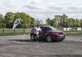 land rover british british rugby star owen farrell allows himself to be beaten by an