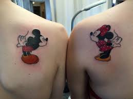 couple tattoo mickey mouse browse worlds largest tattoo image gallery trueartists com